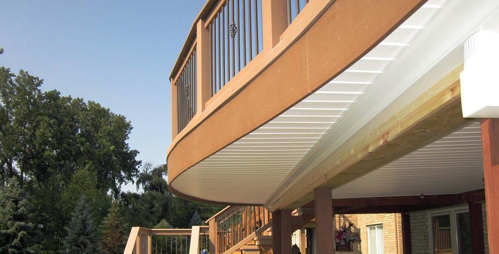 Acorn Deck Accessories Providing the Sealing CeilingTM under deck